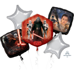 Star wars The Force Awakens Birthday Foil Balloon Bouquet P75 - 5 PC