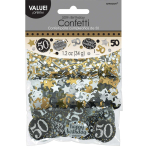 Gold Sparkling Celebration 50th Confetti 34g - 12 PKG