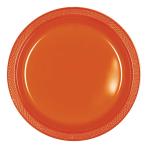 Orange Peel Plastic Plates 23cm - 10 PKG/10