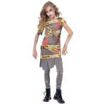 Caution Zombie Costume - Age 6-8 Years - 1 PC