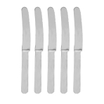 Silver Heavy Weight Plastic Knives - 12 PKG/48