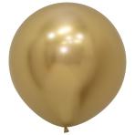 "Reflex Gold 970 Latex Balloons 24""/60cm - 3 PC"