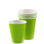 Kiwi Green Paper Cups 266ml - 6 PKG/20