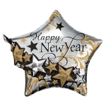 Create stunning balloon decorations for New Years Eve