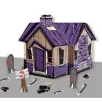 Haunted House Centrepiece - 28cm w x 28cm d x 22cm h - 6 PC