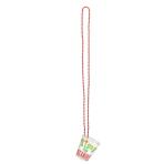 Christmas Plastic Shot Glass Necklaces - 6 PKG/4
