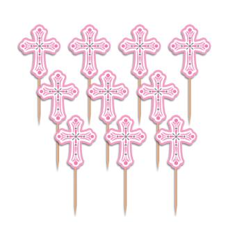 Religious Pink Party Picks - 15 PKG/36