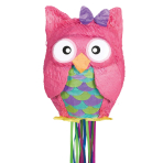 Owl Pull Pinatas - 4 PC