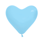 "Fashion Pastel Heart Solid Blue 140 Latex Balloons 6""/15cm - 100 PC"