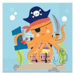 Ahoy Birthday 1st Birthday Luncheon Napkins 33cm - 6 PKG/16