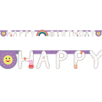 Peppa Pig Happy Birthday Letter Banners 2.1m x 1.8m - 6 PC