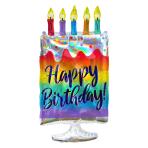 "Iridescent Cake SuperShape Foil Balloons 15""/38cm w x 30""/76cm h P40 - 5 PC"