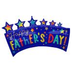 "Happy Father's Day Banner SuperShape Foil Balloons 34""/86cm w x 19""/48cm h P35 - 5 PC"