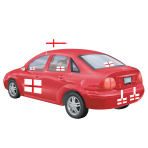 England Day Car Art Kit  -  6 PKG/1