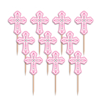 Religious Pink Party Picks - 15 PKG/36