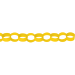 Yellow Paper Chains Link Garlands 3.9m - 6 PC