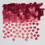 Sparkle Hearts Burgundy Metallic Confetti 14g - 12 PKG