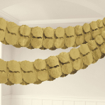 Gold Paper Garland 3.65m - 6 PC
