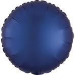 Navy Circle Satin Luxe Standard HX Packaged Foil Balloons S15 - 5 PC
