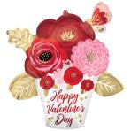 "Painted Flowers SuperShape Satin Luxe Foil Balloons 26""/ 66cm w x 26""/66cm h P35 - 5 PC"