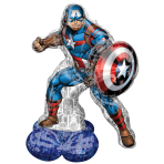 Captain America AirLoonz Foil Balloons 37/93cm w x 58/147cm h P70 - 3 PC