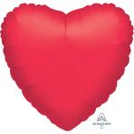 "Metallic Red Jumbo Heart Unpackaged Foil Balloons 32""/81cm P30 - 3 PC"