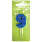 Dots & Stripes Candles Number 9 - 7.6cm 12 PKG