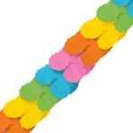 Multi-Colours Paper Garlands 3.65m - 6 PC