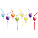 Balloon Fiesta Drinking Straws - 10 PKG/8