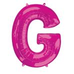 """Letter G Pink SuperShape Foil Balloons 34""""/""""86cm P50 - 5 PC"""