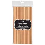Rose Gold Premium Paper Straws - 12 PKG/24