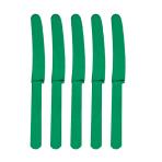 Festive Green Plastic Knives - 12 PKG/10