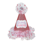Birthday Princess Cone Hats - 6 PC