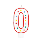 Giant Size Numeral Candles 13.3cm - 12 PC