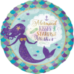 Mermaid Wishes & Kisses Standard Foil Balloons S40 - 5 PC
