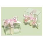 Clear Pink Favour Boxes - 6 PKG