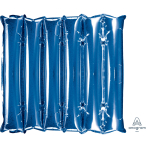 "Blue Half Decorator Air-Filled Unpackaged Foil Panel 20""/50cm w x 21""/53cm h D35 - 3 PC"