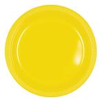 Sunshine Yellow Plastic Plates 23cm - 10 PKG/10