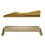 Gold Jumbo Plastic Table Rolls 1m x 76m - 1 PC