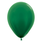 "Metallic Solid Forest Green 532 Latex Balloons 12""/30cm - 25 PC"