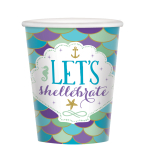 Mermaid Wishes Paper Cups 250ml - 12 PKG/8