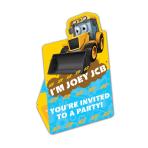 My 1st JCB Invitations & Envelopes - 6 PKG/8