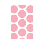 Candy Buffet Polka Dots Treat Bags Light Pink - 24 PKG/10