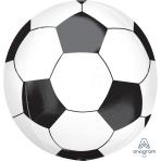 """Soccer Ball Orbz Foil Balloons 15""""/38cm w x 16""""/40cm h G20 - 5 PC"""