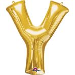 """Letter Y SuperShape Gold Foil Balloon 34""""/""""86cm P50 - 5 PC"""