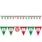 Merry Christmas Pennant Banners 3.8m - 6 PC