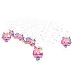 My Little Pony Plastic Tablecovers 1.2m x 1.9m - 10 PC
