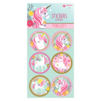 Magical Unicorn Iridescent Stickers - 12 PKG/24