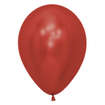 "Reflex Crystal Red 915 Latex Balloons 12""/30cm  -  50 PC"