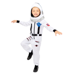 Space Suit White Costume - Age 8-10 Years - 1 PC
